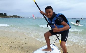 Colonie de vacances surf, stand up paddle, voile